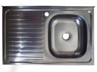 Мойка для кухни накладная KromRus 800х500х0,4мм правая код A002349
