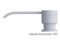 Дозатор моющего средства с флаконом Tolero серый металлик код 100036-001