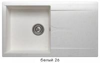 Мойка для кухни гранитная Polygran Gals-860 белая код 101807