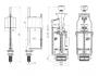 Арматура 2-уровневая, нижний подвод Ани Пласт WC3550M код 101466