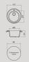 Мойка для кухни искусственный камень NOVELL Медея марокко код 101425