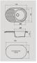Мойка для кухни искусственный камень NOVELL Каролина графит код 101486