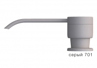 Дозатор моющего средства с флаконом Tolero серый код 100036-701