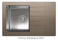 Комбинированная кухонная мойка TOLERO TWIST TTS-760 темно-бежевая код 101583-823