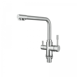 Смеситель для кухни Accoona A5179-5 из нержавеющей стали с выходом для питьевой воды код 101876