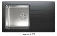 Комбинированная кухонная мойка TOLERO TWIST TTS-860 черная код 101590-911