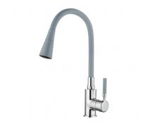 Смеситель для кухни с силиконовым изливом серый Accoona A9890T-1 код 101999