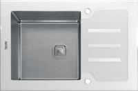 Комбинированная мойка TOLERO CERAMIC GLASS TG-660 белое стекло код 101570