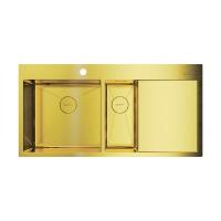 Мойка для кухни Omoikiri Akisame 100-2 LG-L, светлое золото код 101893