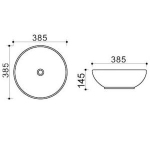 Накладная раковина melana mln-4005-B8 код 101584