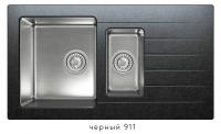 Комбинированная кухонная мойка TOLERO TWIST TTS-890K черная код 101855-911