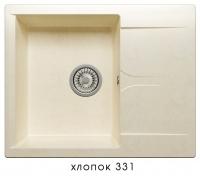 Мойка для кухни гранитная Polygran Gals-620 хлопок код 101803