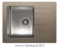 Комбинированная кухонная мойка TOLERO TWIST TTS-660 темно-бежевая код 101825