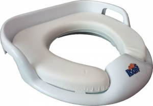 Накладка на унитаз детская мягкая Bossbaby белая код 100419
