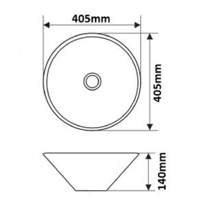 Накладная раковина melana mln-T4006-G30 код 102044