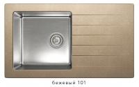 Комбинированная кухонная мойка TOLERO TWIST TTS-860 бежевая код 101590-101