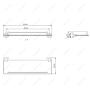Полка стеклянная MELANA сатин хром MLN-861004 код 101461