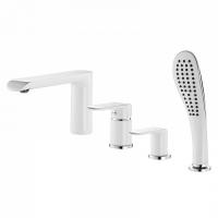 Смеситель для ванны на 4 отверстия, белый/хром, Calipso, IDDIS, CALSB42i07 код 101041