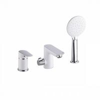 Смеситель на борт ванны на 3 отверстия с керамическим дивертором, Cloud, IDDIS, CLOSB30i07 код 101037