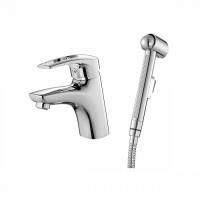 Смеситель для умывальника с гигиеническим душем, Carlow Plus, IDDIS, CRPSB00i08 код 100945