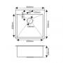 Мойка врезная 50х50 FABIA Profi (3.0х200) выпуск 3 1/2 с сифоном, с коландером код 101732