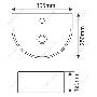Раковина подвесная MELANA MLN-7781 код 101787