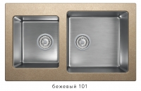 Комбинированная кухонная мойка TOLERO TWIST TTS-840 бежевая код 101589-101