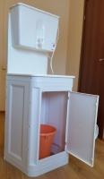 Комплект «Чистюля» умывальник с водонагревателем ЭВБО-17, тумба пластик (единая упаковка) код 101775