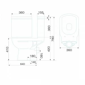 Унитаз-компакт ВКЗ Gesso Диана код 100763