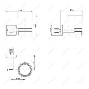 Стакан подвесной MELANA сатин хром MLN-862010 код 101453