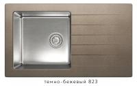 Комбинированная кухонная мойка TOLERO TWIST TTS-860 темно-бежевая код 101590-823