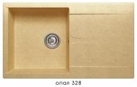 Мойка для кухни гранитная Polygran Gals-860 опал код 101808