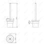 Ершик для унитаза подвесной MELANA сатин хром MLN-865006 код 101459