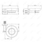 Мыльница стеклянная MELANA сатин хром MLN-862010-1 код 101454