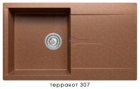Мойка для кухни гранитная Polygran Gals-860 терракот код 101810
