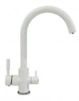 Смеситель для кухни Tolero Элара Дуо серый металлик с возможностью подключения фильтра для воды код 101874-001