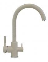 Смеситель для кухни Polygran Элара Дуо серый с возможностью подключения фильтра для воды код 101874-14