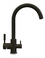 Смеситель для кухни Polygran Элара Дуо черный с возможностью подключения фильтра для воды код 101874-16