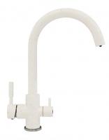 Смеситель для кухни Polygran Элара Дуо белый с возможностью подключения фильтра для воды код 101874-26