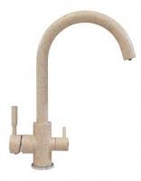 Смеситель для кухни Polygran Элара Дуо песочный с возможностью подключения фильтра для воды код 101874-302