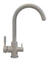 Смеситель для кухни Tolero Элара Дуо серый с возможностью подключения фильтра для воды код 101874-701
