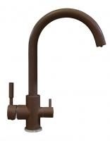 Смеситель для кухни Tolero Элара Дуо коричневый с возможностью подключения фильтра для воды код 101874-817