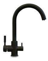 Смеситель для кухни Tolero Элара Дуо черный с возможностью подключения фильтра для воды код 101874-911
