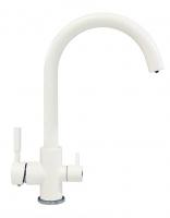 Смеситель для кухни Tolero Элара Дуо белый с возможностью подключения фильтра для воды код 101874-923