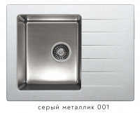Комбинированная кухонная мойка TOLERO TWIST TTS-660 серый металлик код 101823