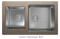 Комбинированная кухонная мойка TOLERO TWIST TTS-840 темно-бежевая код 101589-823
