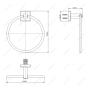 Держатель для полотенца MELANA сатин хром MLN-862009-1 код 101455
