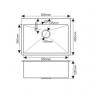 Мойка для кухни врезная MELANA ProfLine 3,0/200 САТИН H6045 код 101485