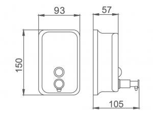 Дозатор для жидкого мыла HAIBA HB401, 500 мл код 102047