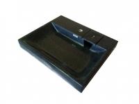 Раковина над стиральной машиной BERGG Стайл V50Q4 черная с кронштейнами код 101976
